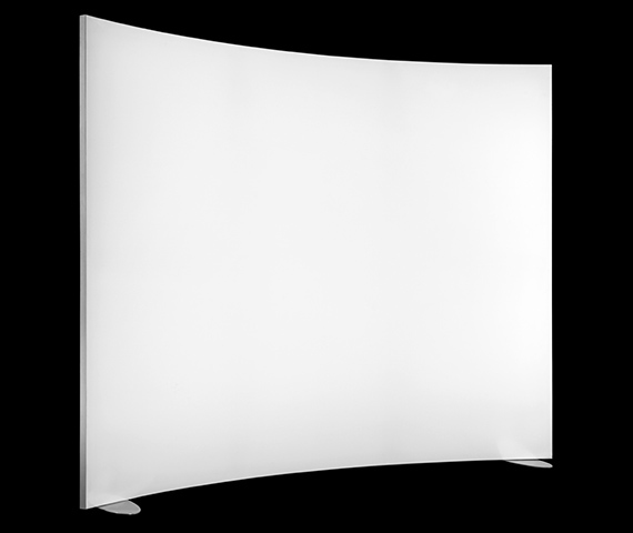 Curved Panel, Self-Standing, Moss Groove Image