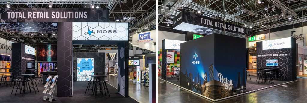 Booth montage, Moss at EuroShop 2020