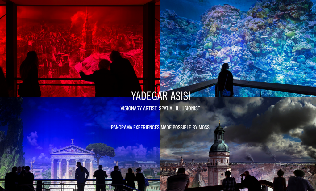Yadegar Asisi & Moss partner for massive 360-degree panoramas