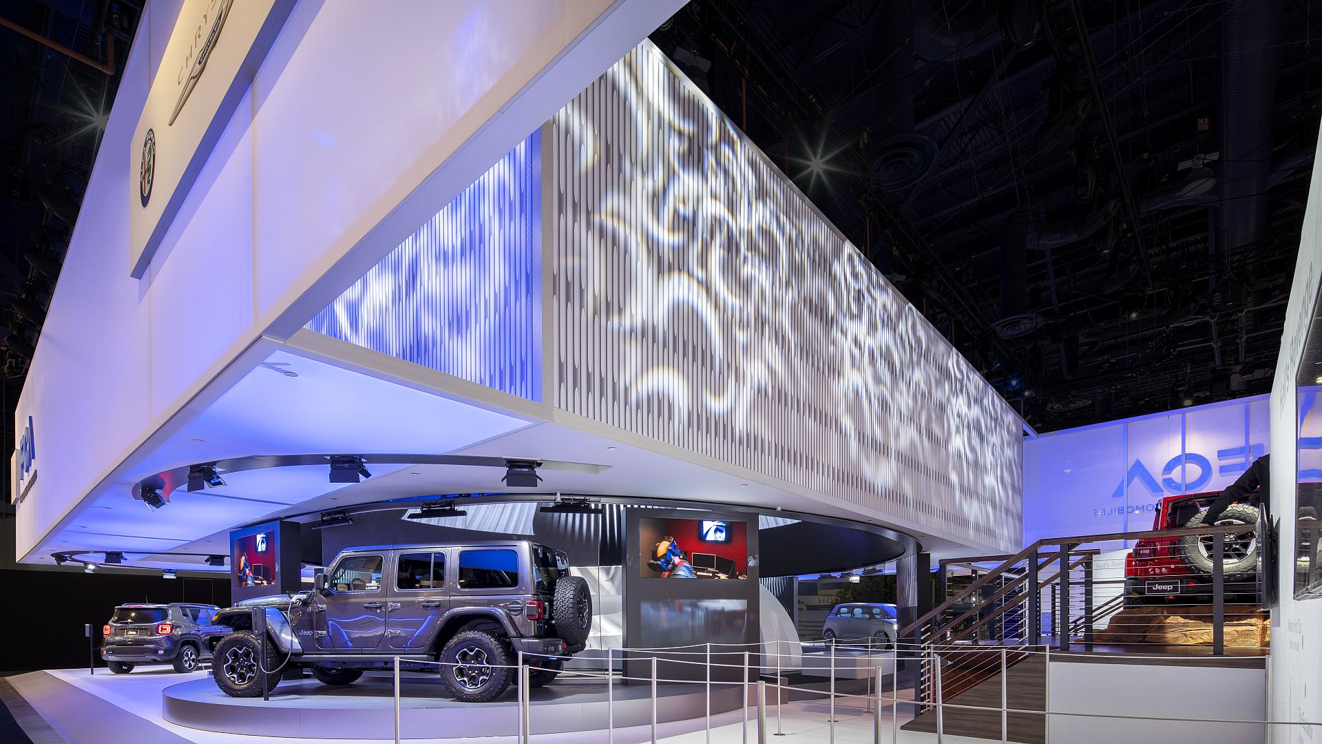 Award-winning FCA booth at CES, Moss Canopy